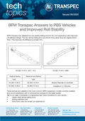 BPW Transpec Answers to PBS Vehicles and Improved Roll Stability